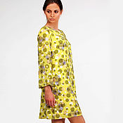 Одежда ручной работы. Ярмарка Мастеров - ручная работа Платье из шелка. Шелковое платье желтое. Handmade.