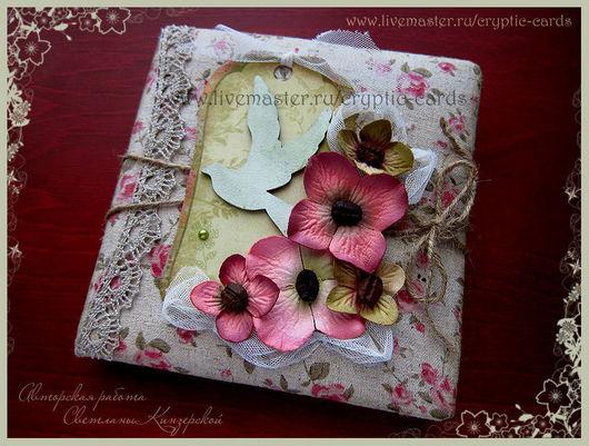 """Блокноты ручной работы. Ярмарка Мастеров - ручная работа. Купить Блокнот с состареными страницами с рисунком """"Винтажные цветы&quot. Handmade. Блокнот"""