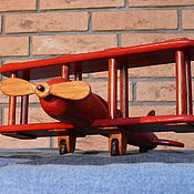 Куклы и игрушки ручной работы. Ярмарка Мастеров - ручная работа Деревянный самолет (детская игрушка). Handmade.