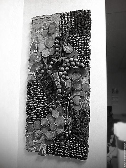 Декор поверхностей ручной работы. Ярмарка Мастеров - ручная работа. Купить Интерьерное оформление стен сухоцветами Там на неведомых дорожках. Handmade.