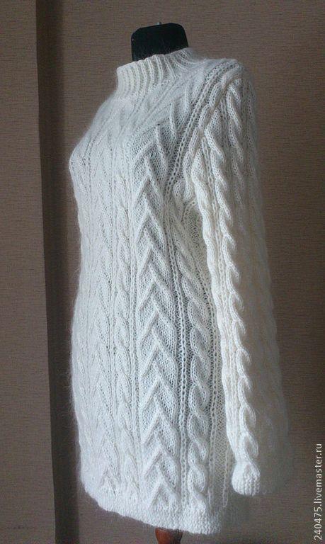 """Кофты и свитера ручной работы. Ярмарка Мастеров - ручная работа. Купить свитер """"а мне тепло"""". Handmade. Белый"""