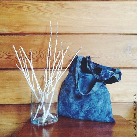 Сумки и аксессуары ручной работы. Ярмарка Мастеров - ручная работа. Купить Эко сумка с подкладкой. Handmade. Тёмно-синий, сумка