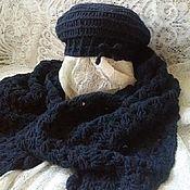 Аксессуары handmade. Livemaster - original item Beret and scarf-Cape