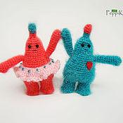 Куклы и игрушки ручной работы. Ярмарка Мастеров - ручная работа Влюбленные пушистики. Handmade.