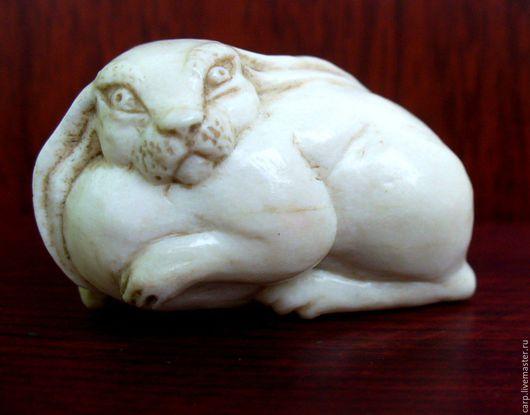 Миниатюрные модели ручной работы. Ярмарка Мастеров - ручная работа. Купить Заяц. Handmade. Белый, милая вещица