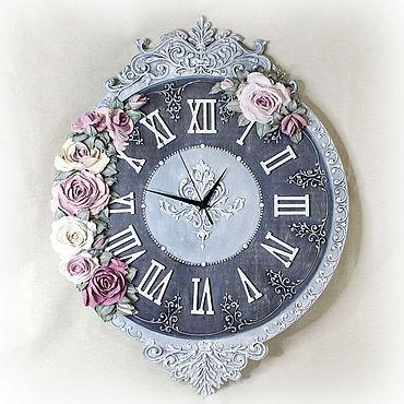For home and interior handmade. Livemaster - original item Large wall clock