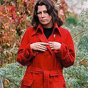 Одежда ручной работы. Ярмарка Мастеров - ручная работа ПАЛИТОН красивенно-красный (пальто женское). Handmade.