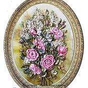 """Картины и панно ручной работы. Ярмарка Мастеров - ручная работа Картина """"Любимые цветы"""". Handmade."""