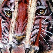 """Украшения ручной работы. Ярмарка Мастеров - ручная работа Кулон """"Тигр"""", яшма красная река. Handmade."""
