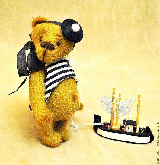 Мишки Тедди ручной работы. Ярмарка Мастеров - ручная работа. Купить Юнга Сема - гроза морей. Handmade. Желтый