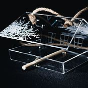 Дача и сад handmade. Livemaster - original item A bird feeder Chalet engraved - an original gift. Handmade.