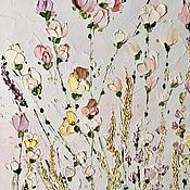 Картины и панно handmade. Livemaster - original item White wild roses pastel painting buy delicate painting in bedroom. Handmade.