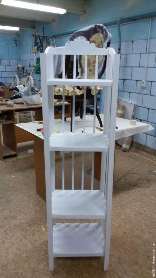 Мебель ручной работы. Ярмарка Мастеров - ручная работа. Купить Реставрация этажерки. Handmade. Белый, винтаж, мдф