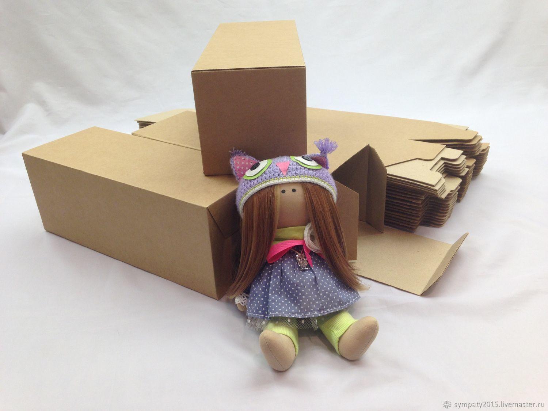 Коробка крафт  31,7 х 12 х 12см, коробка для куклы, подарочная коробка, Коробки, Москва,  Фото №1