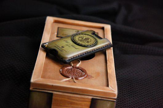 Для телефонов ручной работы. Ярмарка Мастеров - ручная работа. Купить Чехол карман для iPhone 7/7plus/5/6/6plus из Кожи Ручной работы № 16. Handmade.