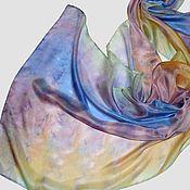 """Аксессуары ручной работы. Ярмарка Мастеров - ручная работа """"Вальсы Штрауса"""" шарфик из шелка с ручным окрашиванием шибори. Handmade."""