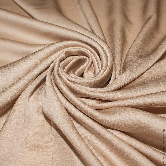 Шитье ручной работы. Ярмарка Мастеров - ручная работа. Купить Итальянский креп-шелк  ESCADA  розовато-бежевый. Handmade.