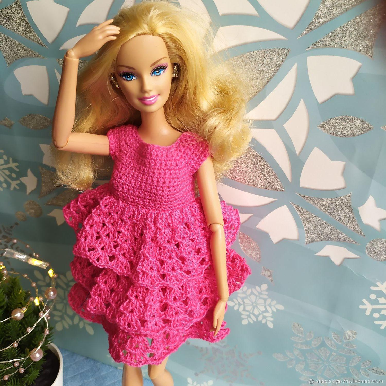 Платье для Барби Фуксия, Одежда для кукол, Феодосия,  Фото №1