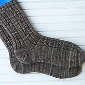 Аксессуары ручной работы. Ярмарка Мастеров - ручная работа Мужские вязаные носки Dark brown. Handmade.