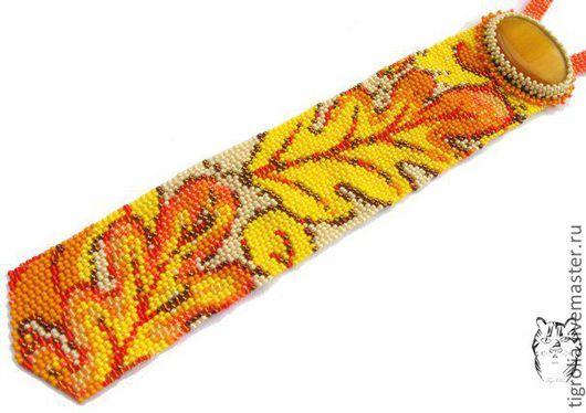 """Галстуки, бабочки ручной работы. Ярмарка Мастеров - ручная работа. Купить Галстук """"Осенний вальс"""". Handmade. Рыжий, галстук"""