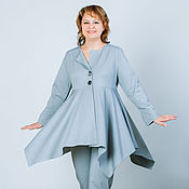 Одежда handmade. Livemaster - original item Jacket-boho (suit) grey Jersey. Handmade.