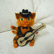 Куклы и игрушки ручной работы. Ярмарка Мастеров - ручная работа Валяная игрушка Рыжий кот. Handmade.