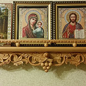 Для дома и интерьера ручной работы. Ярмарка Мастеров - ручная работа Деревянная полка для икон. Handmade.