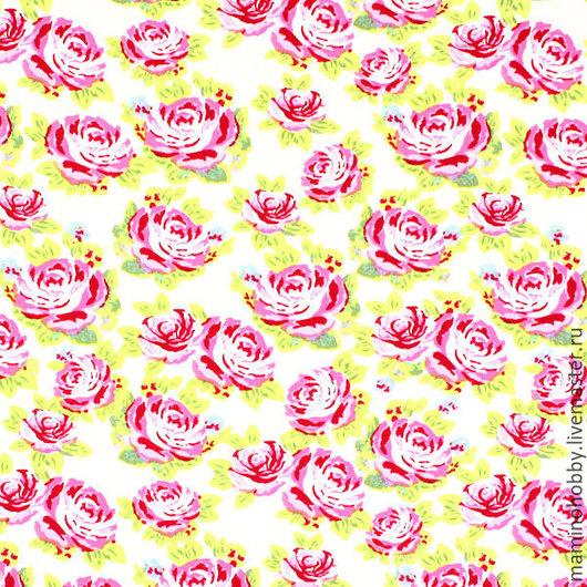 Шитье ручной работы. Ярмарка Мастеров - ручная работа. Купить Немецкий хлопок Розы лимонный фон ширина 150. Handmade.