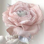Украшения handmade. Livemaster - original item fabric flower. flower brooch.