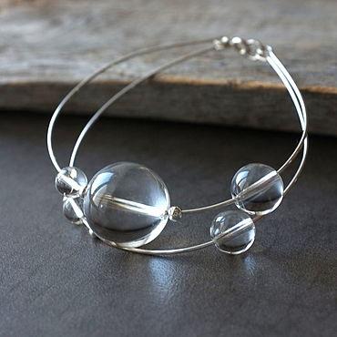 Decorations handmade. Livemaster - original item Planetarium silver bracelet for women. Handmade.