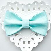 Аксессуары handmade. Livemaster - original item Butterfly tie linen mint turquoise Tiffany. Handmade.