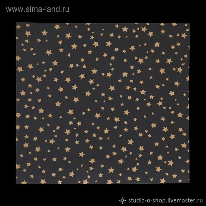 """Ацетатный лист """"Звездное небо"""" 30,5x30,5 Polkadot, Бумага, Челябинск,  Фото №1"""
