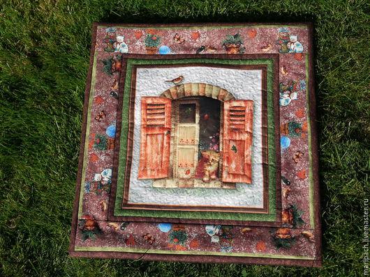 Текстиль, ковры ручной работы. Ярмарка Мастеров - ручная работа. Купить декоративная наволочка на подушку. Handmade. Разноцветный, лоскутное шитье