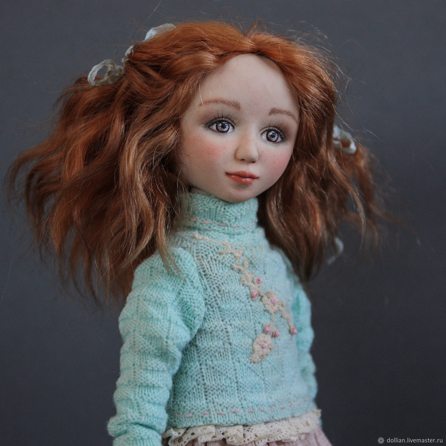 Author's interior collectible doll handmade, Boudoir doll, St. Petersburg,  Фото №1