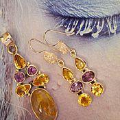 Украшения handmade. Livemaster - original item Gold Venus for happiness. Set Pendant and Earrings. Handmade.