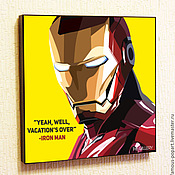Картины и панно handmade. Livemaster - original item Painting poster Pop Art Iron Man. Handmade.