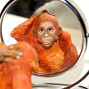 Подарки к праздникам ручной работы. Ярмарка Мастеров - ручная работа Елочные игрушки, папье-маше на прищепке, обезьяна, фигурка орангутан. Handmade.