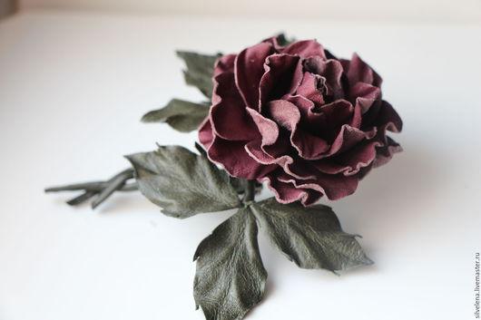 роза из кожи кожаная брошь брошь из кожи