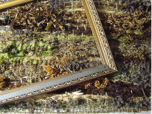 """Картины цветов ручной работы. Ярмарка Мастеров - ручная работа. Купить Гобелен из трав """"Перемиловские горы"""". Handmade. Разноцветный, панно"""