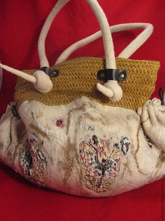 Женские сумки ручной работы. Ярмарка Мастеров - ручная работа. Купить Сумка валяная Ванильное облако. Handmade. Женская сумка