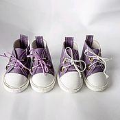 Одежда для кукол ручной работы. Ярмарка Мастеров - ручная работа Обувь для кукол,  кеды цветные. Handmade.