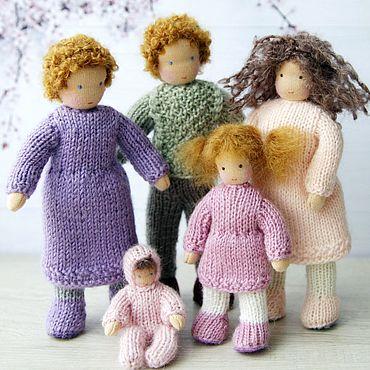 Куклы и игрушки ручной работы. Ярмарка Мастеров - ручная работа Семья вальдорфских куколок для кукольного домика. Handmade.