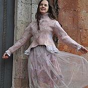 """Одежда ручной работы. Ярмарка Мастеров - ручная работа Валяный костюм """"Розовый жемчуг"""". Handmade."""