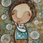 Картины и панно ручной работы. Ярмарка Мастеров - ручная работа Мыльные пузыри. Handmade.