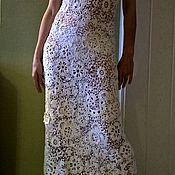 Одежда ручной работы. Ярмарка Мастеров - ручная работа Белое платье , длинное .ИРландское кружево .Ирландское вязание ... Handmade.