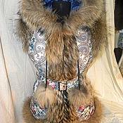 Одежда ручной работы. Ярмарка Мастеров - ручная работа Жилет тайна сердца с енотом. Handmade.