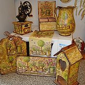"""Для дома и интерьера ручной работы. Ярмарка Мастеров - ручная работа комплект """"Цветы Прованса"""". Handmade."""