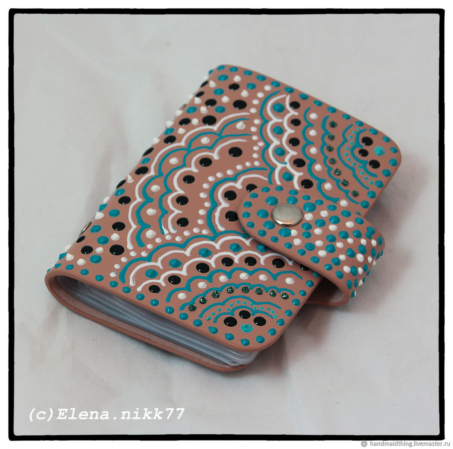 Holder for plastic cards of the 'Sand', Business card holders, Moscow,  Фото №1
