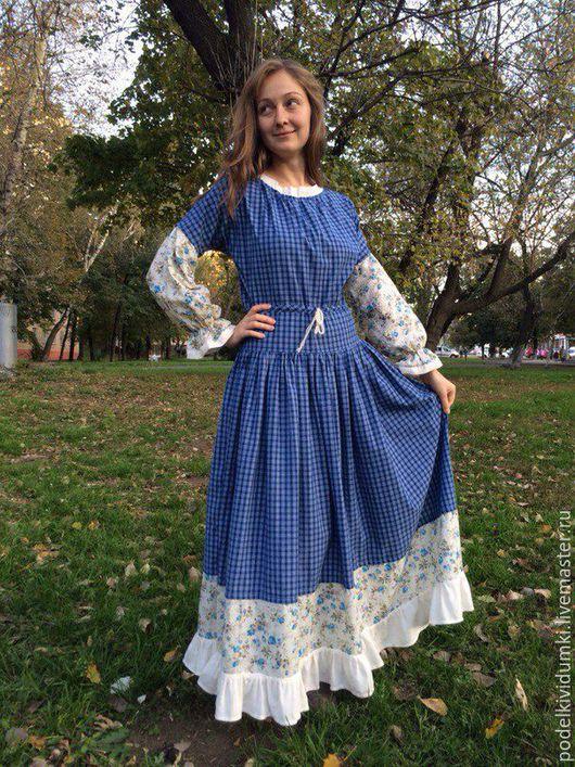 Платья ручной работы. Ярмарка Мастеров - ручная работа. Купить Платье Нежность. Handmade. Разноцветный, пошив на заказ, одежда на заказ