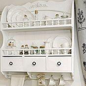 Для дома и интерьера handmade. Livemaster - original item Shelves: white shelf for dishes plates cans collection. Handmade.